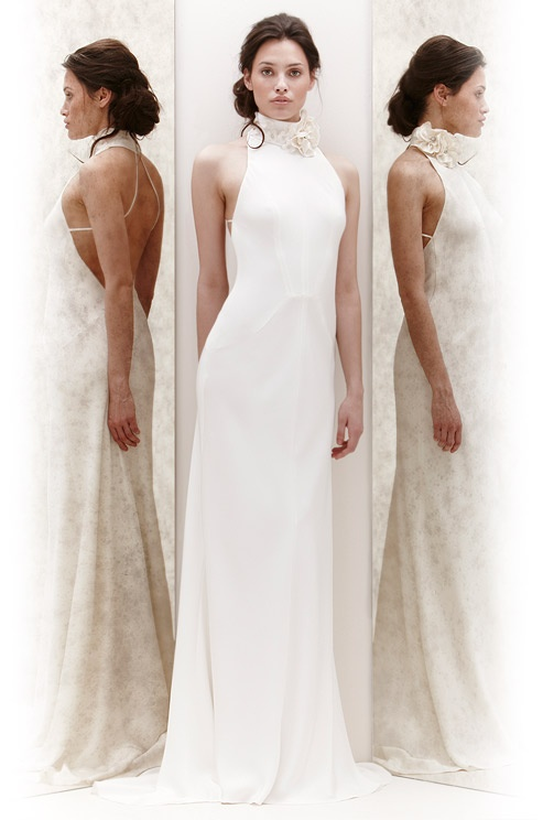 23 best wedding dresses images on pinterest for High collar wedding dress
