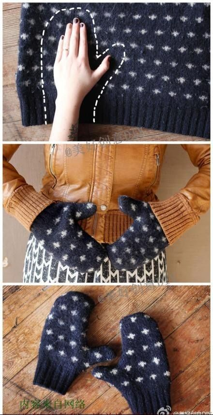 Easy Homestead: DIY - Mittens from Old Sweaters gonna hit the resale shops for cool sweaters to remake!