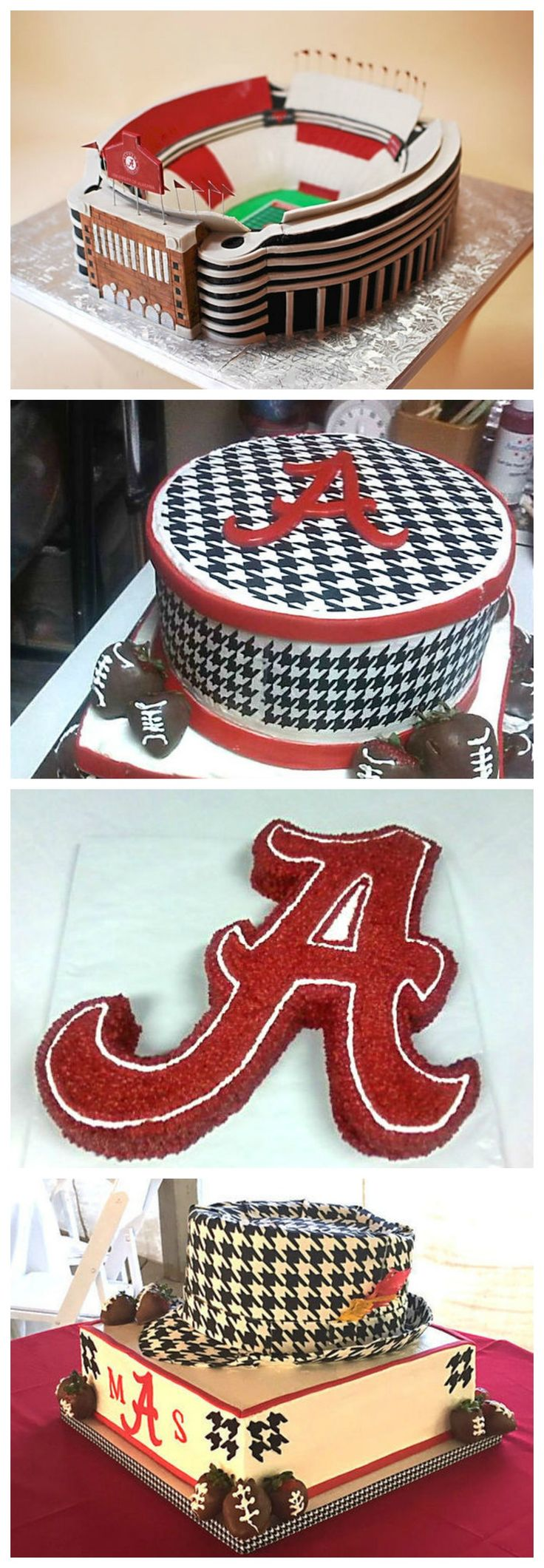 Today, grooms' cakes are typically decorated to represent one of the man's hobbies or interests or, here in Alabama, favorite college football teams.