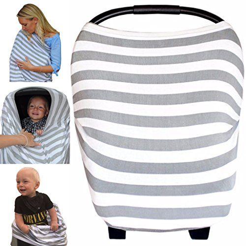 The Best Multi-Use Nursing Breastfeeding Cover, Soft & Stretchy- Baby Car Seat Canopy, Shopping Cart, Stroller, High Chair, Carseat Covers for Girls and Boys. Perfect Baby Shower Gift- Stripe. For price & product info go to: https://all4babies.co.business/the-best-multi-use-nursing-breastfeeding-cover-soft-stretchy-baby-car-seat-canopy-shopping-cart-stroller-high-chair-carseat-covers-for-girls-and-boys-perfect-baby-shower-gift-stripe/