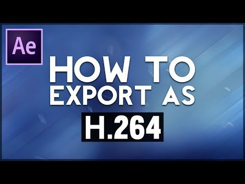 How to Export Video in After Effects CC 2018 - YouTube | TNS AE