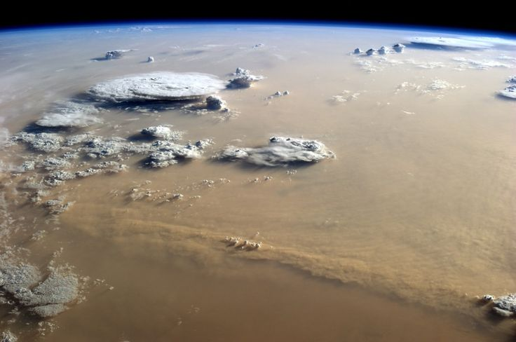 Sand storm over Sahara