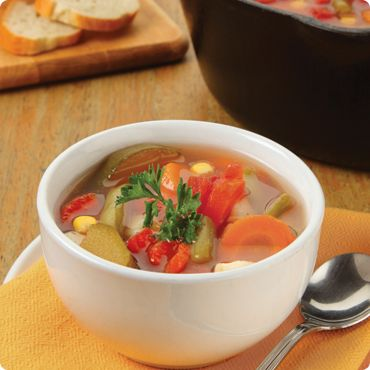 Each bowl of this satisfying, steaming soup is packed with the goodness of six delicious vegetables, and is ready to enjoy in only 25 minutes because the dicing and slicing was already done for you! It's full of big vegetable pieces, unlike canned soup.