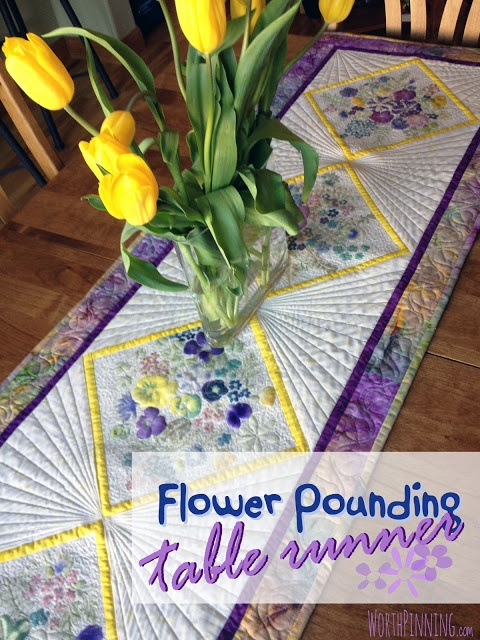308 best bed and table runner ideas images on pinterest place mats flower pounding technique quilted floral table runner watchthetrailerfo