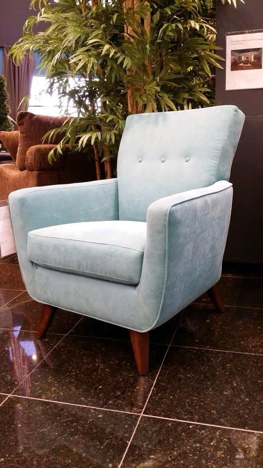 Incorporate This Beautiful Mid Century Modern Style Accent Chair Into Your  Home To Add Vintage Flair! Soft Blue Upholstery Makes It Not Only Beautiful  But ...