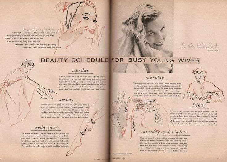 The 1950s housewife had a fairly iconic look – the perfectly coiffed soft perm, sharp make-up and a lovely dress that accentuated a nipped-i...