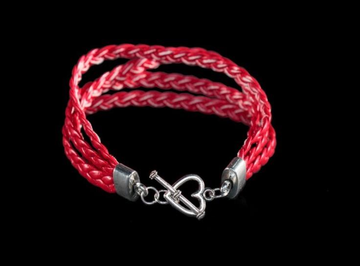 Bracelet, heart  www.facebook.com/BizuteriaLowyt