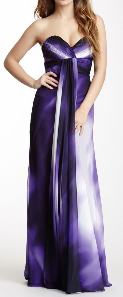 Prettiest Purple Ombre Maxi Dress ♥ My favourite colour... <3