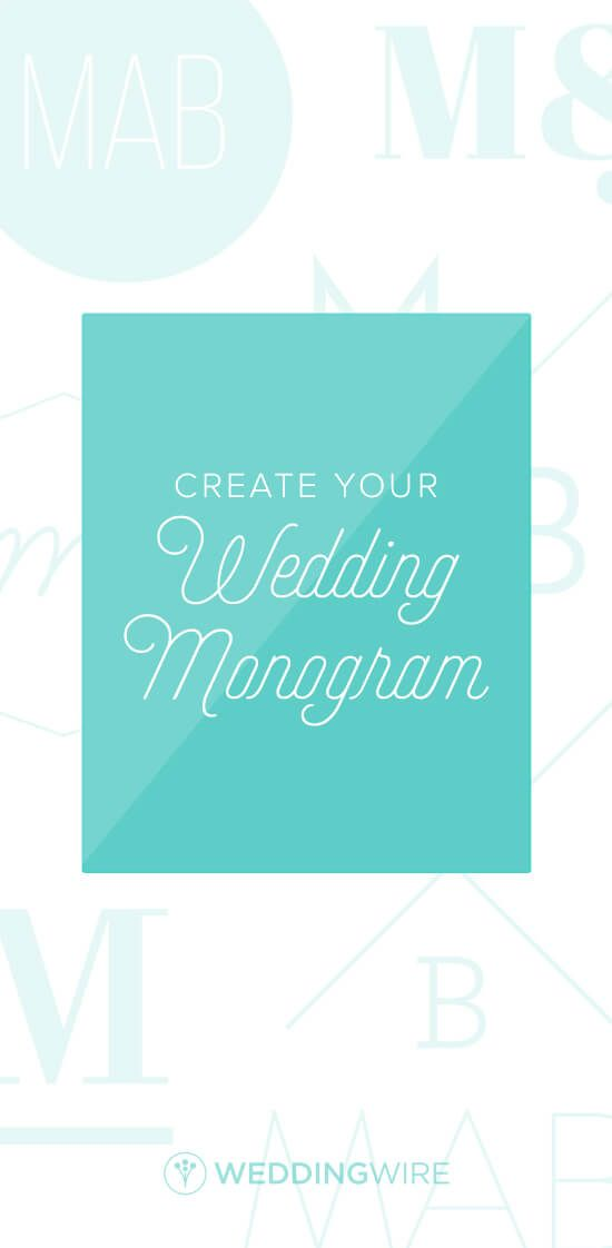 Looking for the perfect wedding monogram? WeddingWire has a tool for that! Just enter initials, select a color and browse more than 40 unique designs!