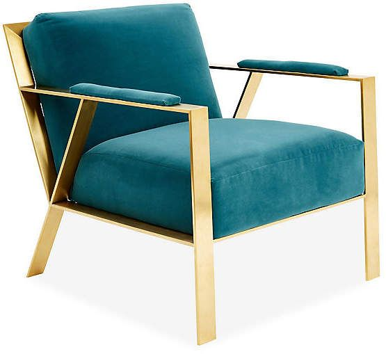 One Kings Lane Bergen Accent Chair Peacock Crypton In