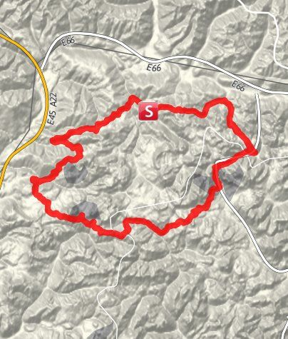 Karte / MTB Dolomiten Rundtour 2014, 4 Tage