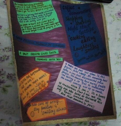 handwritten farewell messages for a friend..!!