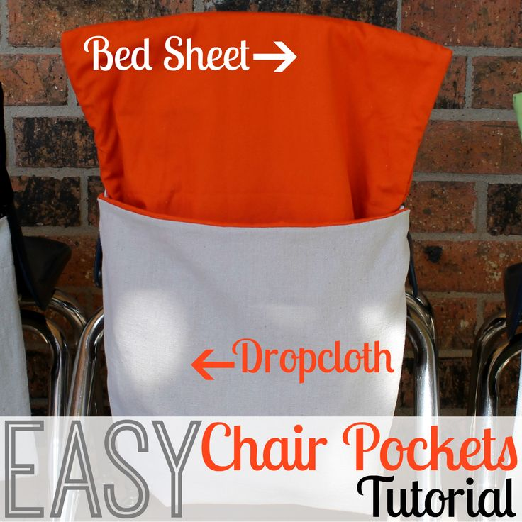 Homemade Classroom Chair Pockets