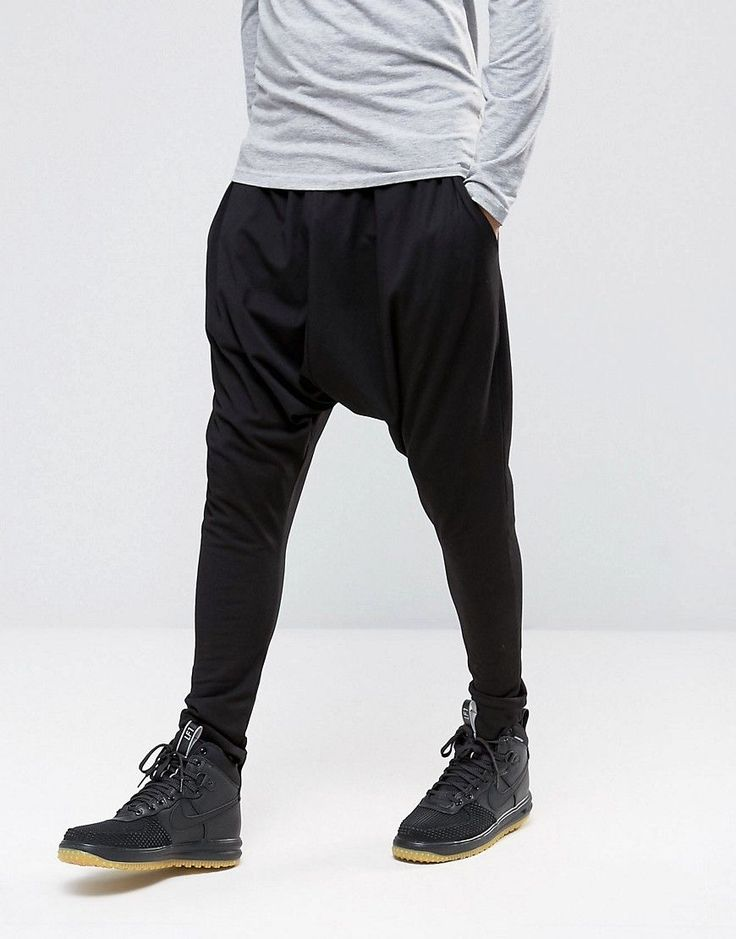 Get this Asos's joggers now! Click for more details. Worldwide shipping. ASOS Extreme Drop Crotch Jogger In Lightweight Jersey - Black: Dropped-crotch trousers by ASOS, Soft-touch jersey, Elasticated waistband, Side pockets, Extreme drop crotch, Cut lower than a standard crotch, Machine wash, 96% Cotton, 4% Elastane, Our model wears a size Medium and is 189cm/6'2.5 tall. ASOS menswear shuts down the new season with the latest trends and the coolest products, designed in London and sold…