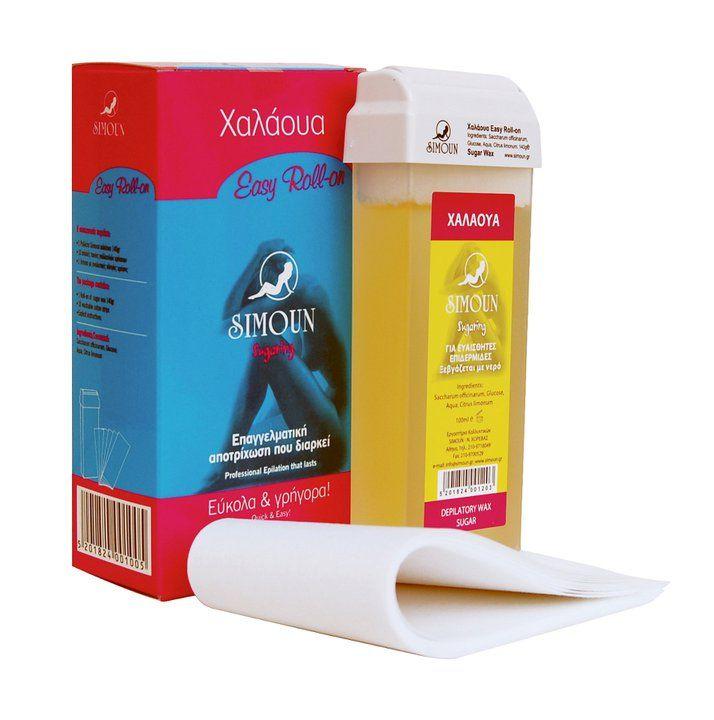Sugaring roll on kit, Simoun hair removal, Body sugaring, Epilation, Sugar wax, Sugaring roll on