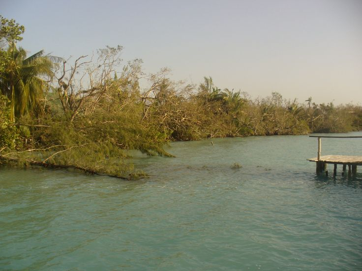 """Devastation Puerto Morelos Hurricane """"Dean Rancho""""  Aug 2007 Riviera Maya"""