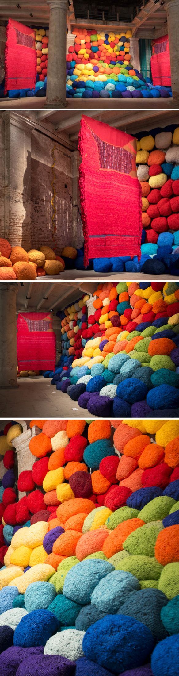 installation by sheila hicks - venice biennale 2017 <3