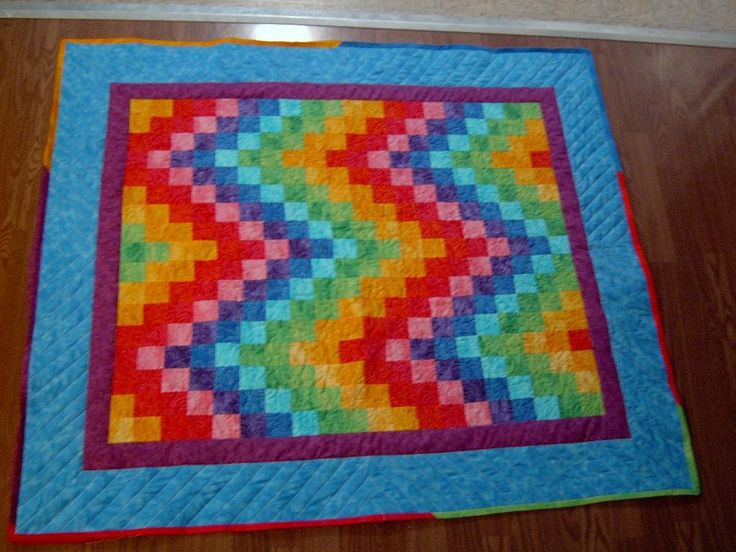Rainbow Quilt, Made by my Mom, Dragonfly Quilts!