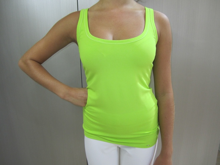 Lime cotton singlet