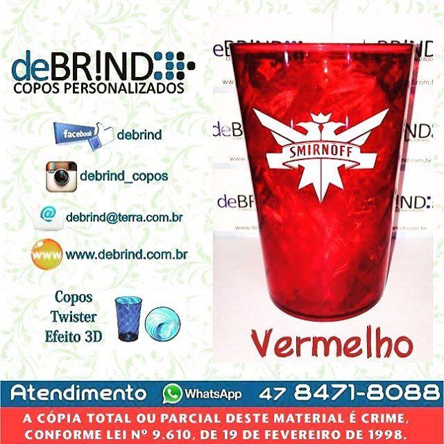 """Copos Twister 3D 500mlDebrind Copos PersonalizadosOrçamentos:www.debrind.com.brdebrind@terra.com.br""""WatsApp"""" 47 8471-8088Copos de Acrílico com impressão direta no copo, Não sai lavando! #copos #coposcasamento #instafood @onlinerepost #repost #marketing #brindes #brindespersonalizados #sc #twister #cup #top #smirnoff"""