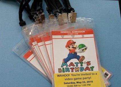 "Invite idea.  Photo 1 of 8: Mario / Birthday ""Matt's 8th Birthday""   Catch My Party"