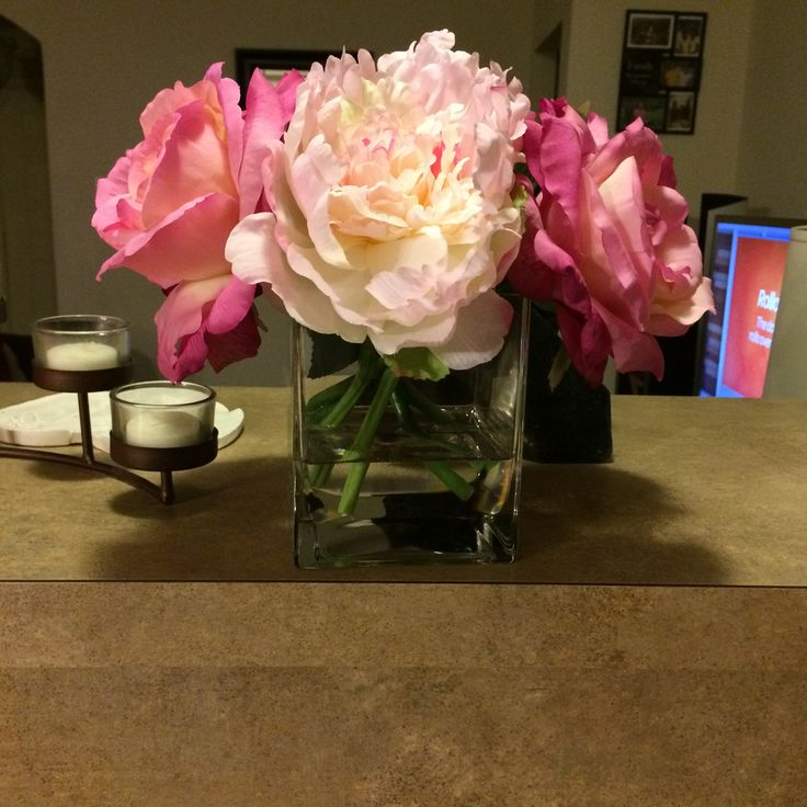 wedding centerpieces fake flowers%0A I made this floral arrangement as a centerpiece for my kitchen table   The  artificial