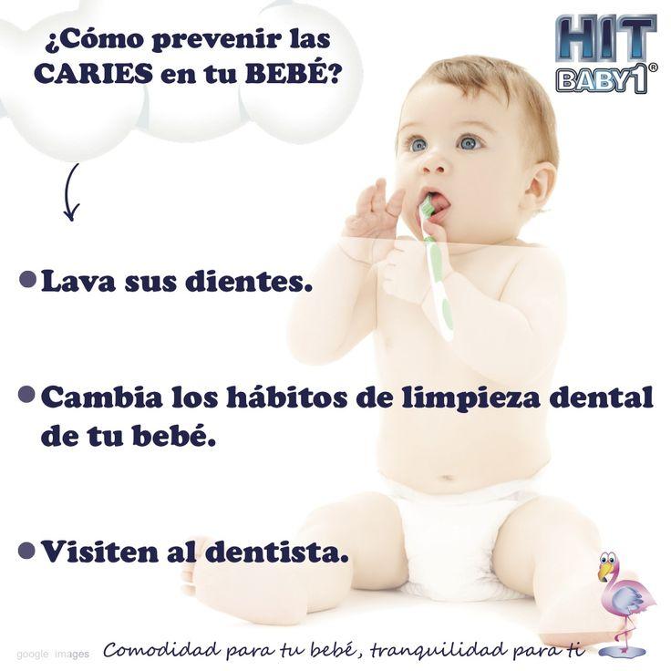 ¿Cómo prevenir las caries en tu bebé? Lava sus dientes. Cambia los hábitos de limpieza dental de tu bebé. Visiten al dentista. http://bloghitbabyone.com/2015/03/13/prevenir-las-caries-de-tu-bebe-en-3-sencillos-pasos/ #bebés #dientes #caries #higiene #salud