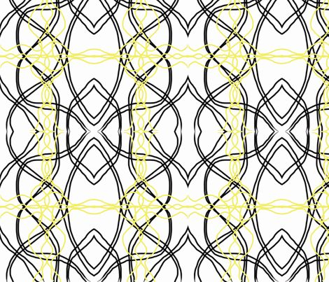 black yellow scandinavian retro-ch fabric by mayadesign on Spoonflower - custom fabric