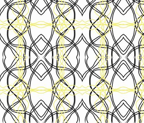 black yellow scandinavian retro-ch fabric by mayadesign on Spoonflower - custom fabric