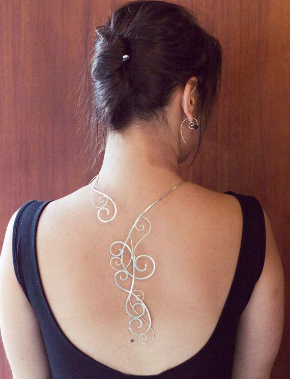 New Hammered Silver Back-Lace For Women