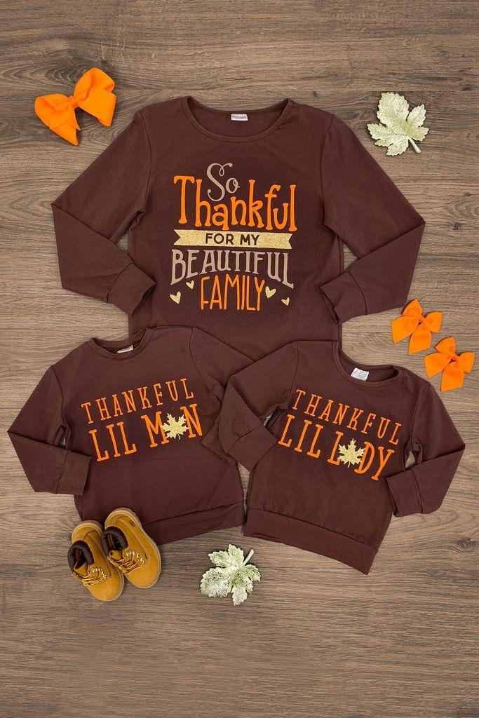 Thankful Family Shirts Thanksgiving Shirts Kids Family Shirt Design Family Shirts