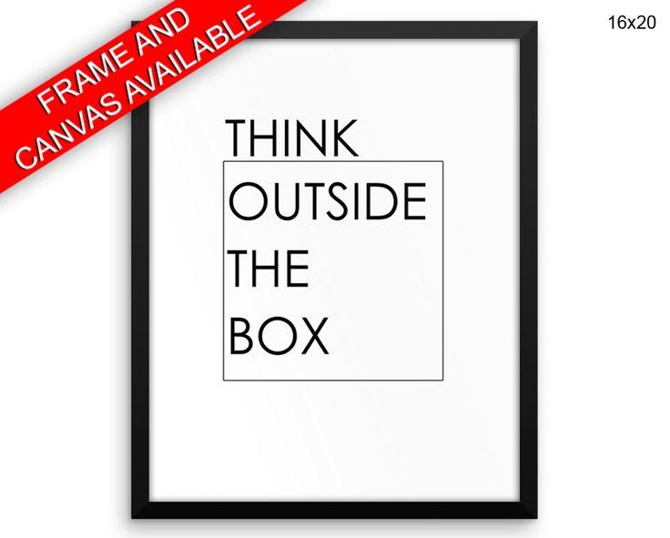 Think Outside The Box Canvas Art Think Outside The Box Printed Think Outside The Box Office Art Think Outside The Box Office Print Think #canvas #frame