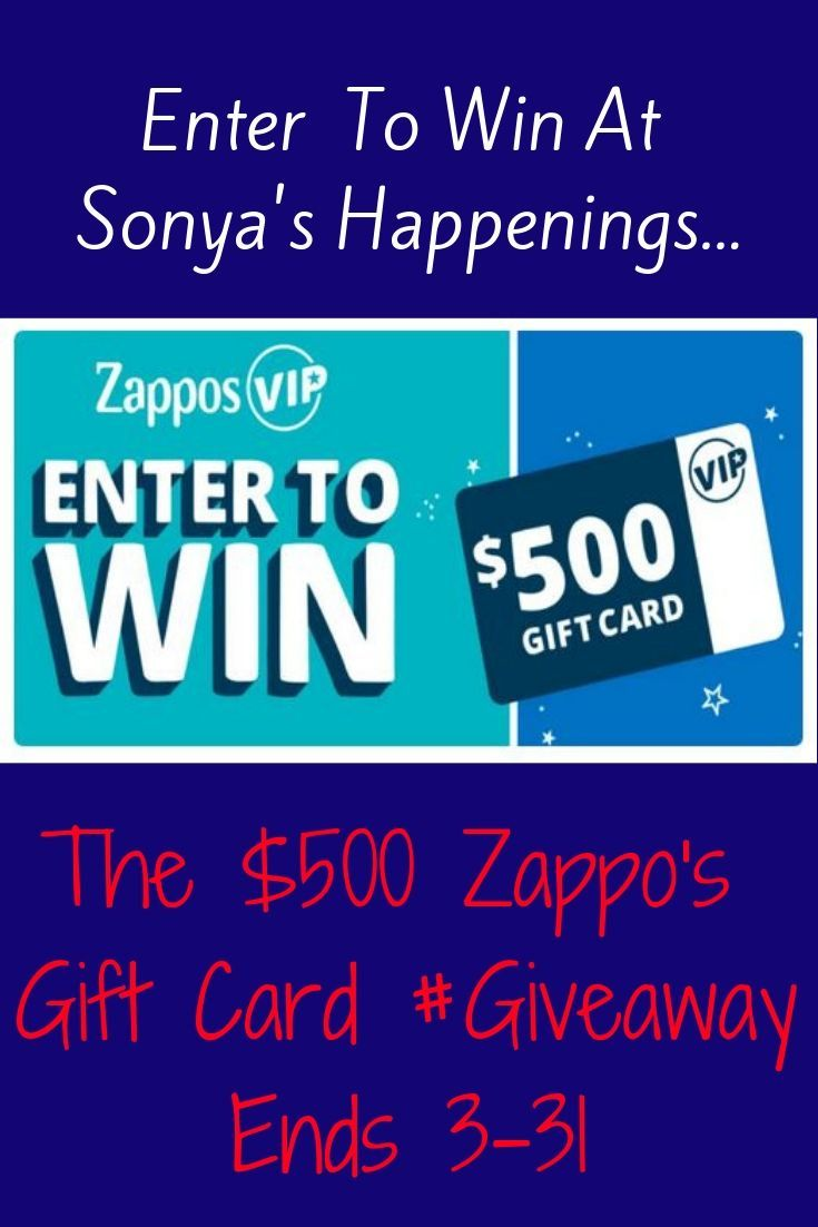 Enter To Win A 500 Zappos Gift Card Sweeps Ends 3 31 Gift Card Sweepstakes Online Sweepstakes