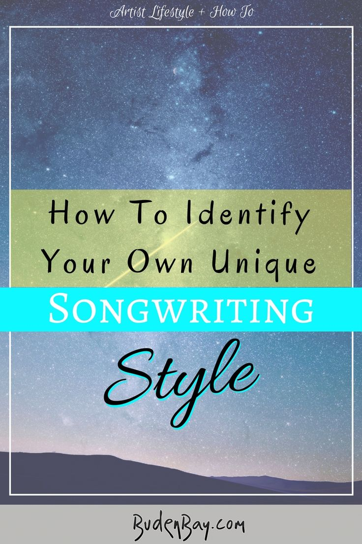 Music tutorial, songwriting style / genre. Unique music and lyric writing. Tips, tricks and tales.