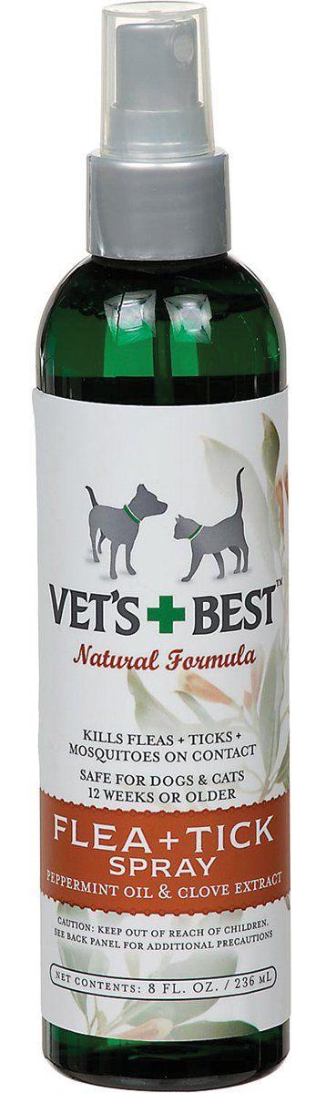 Bramton Company-Vet's+best Flea & Tick Spray For Dogs- Mint/clove 8 Oz
