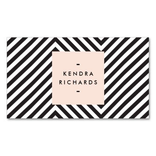 672 best pattern business cards images on pinterest business card retro black and white pattern simple name logo business card reheart Choice Image
