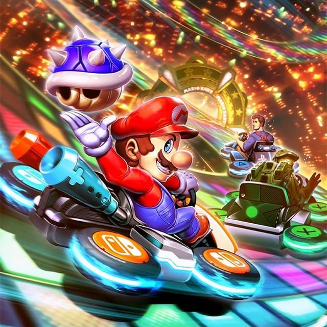 What's everyones thoughts on Mario Kart for Mobile?  Mario Kart 8 VS Nathan Drake VS Master Chief by GENZOMAN  #MarioKart #Halo #Uncharted #Gaming #Xbox #PS4 #Nintendo #ConceptArt #Art #GameArt #illustration #NintendoSwitch #Mobile