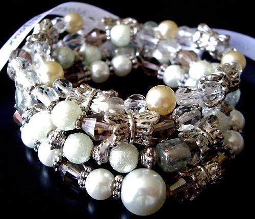 #brown #sugar #swarovski #glass #pearls