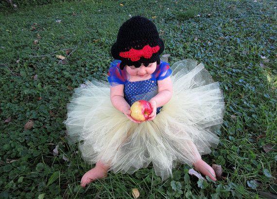 Snow White Crochet Hat Disney Princess Hat by CraftsEverywhere