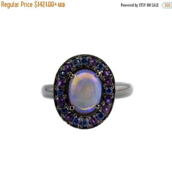 Fathers Day Sale Australian jelly opal with amethyst and blue