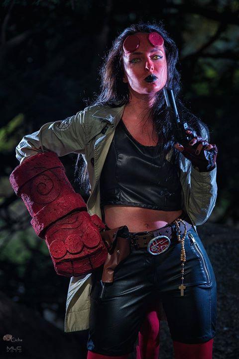 "Fem Hellboy / Hellgirl from Mike's Mignola ""Hellboy comics"""