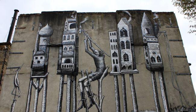 Street Art Europea: fermata Brick Lane, Londra ~ Corsi e rincorsi