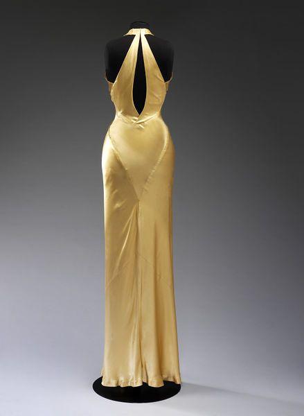 Evening dress (image 2) | Charles James | American | 1934 | satin | Victoria & Albert Royal Museum | Museum #: T.272-1974