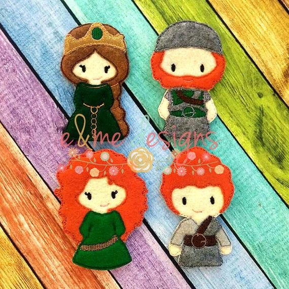 This listing features a courageous family finger puppet set embroidery design.    SIZES: 4x4    Formats offered:  DST  EXP  JEF  HUS  PES  VIP  XXX