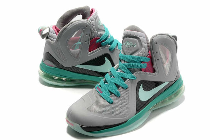 New All Pink Lebrons 2013 | Nike Lebron 9 PS Elite Wolf Grey Mint Candy New Green Pink Flash Cheap ...