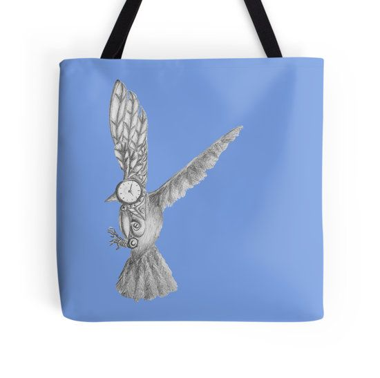 mecho bird tote bag by I Love the Quirky. Available in many other products