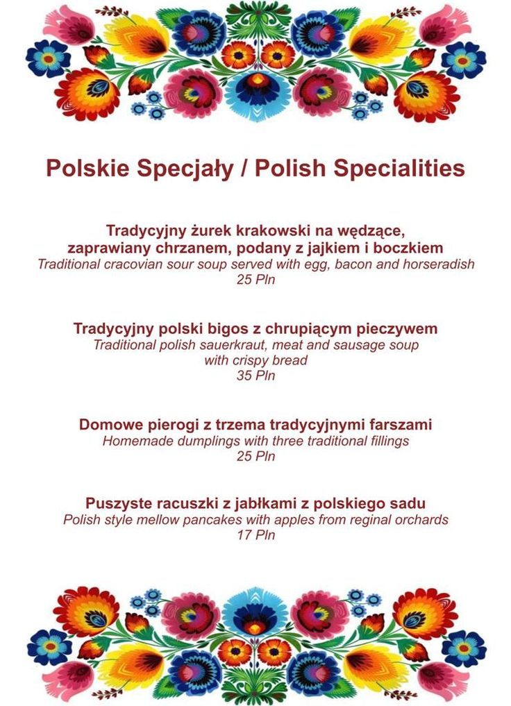 #polish #specialities in #grandhotel #new #delicious #menu #visit #cracow