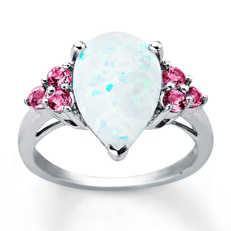 Angara Classic Cabochon Opal Solitaire Ring With Petal Motifs