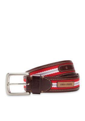Jack Mason Brown Ohio State Tailgate Belt