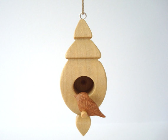 Poplar Bird House Ornament 3D Compound Cut by OohLookItsARabbit, $20.00